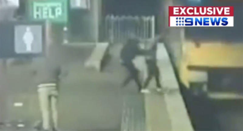 Man saves another man at Petersham train station in Sydney's inner-west.