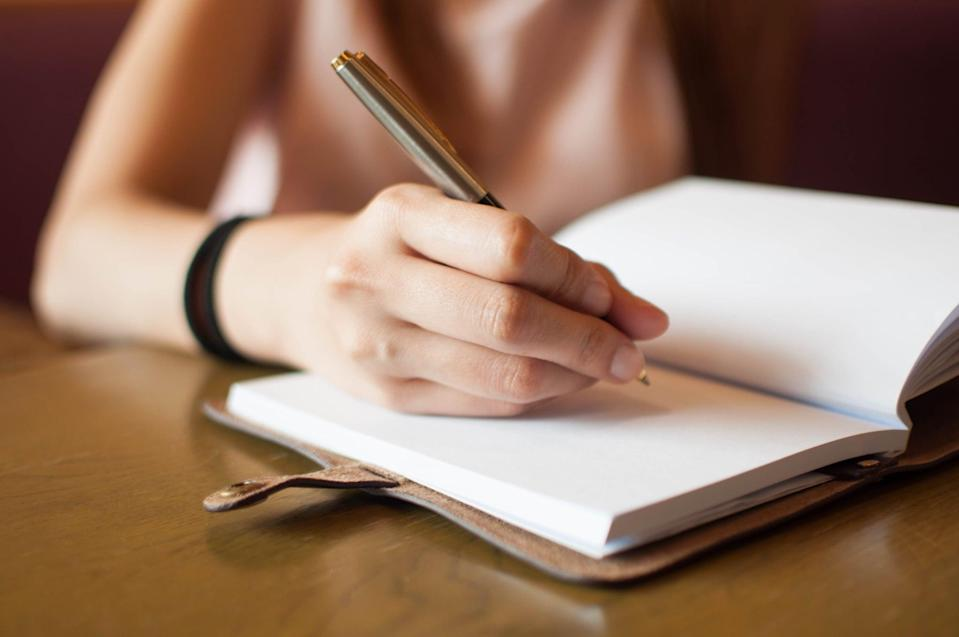 """<p>If you're feeling anxious or overwhelmed, it's helpful to ground yourself in the present and in your body, Schroeder said. Journaling is one way to do this, added psychotherapist Skylar Ibarra, LCSW, of <a href=""""https://www.lenarratherapy.com/"""" class=""""link rapid-noclick-resp"""" rel=""""nofollow noopener"""" target=""""_blank"""" data-ylk=""""slk:Lenarra Therapy"""">Lenarra Therapy</a> because it forces you to slow down and """"approach the situation with curiosity instead of blame. What assumptions are we treating as facts? What information are we filling in?"""" You want to pause the story in your head and put it down on paper, where you separate reality from anxiety.</p> <p>Try these prompts:</p> <ul> <li>What is the story I am telling myself about this situation? What history am I pulling in and what assumptions am I making?</li> <li>Where am I holding tension or other sensations in my body? What is my body signaling to me about my emotional state? What is it like to notice these sensations? How can I care for myself in this moment?</li> </ul>"""