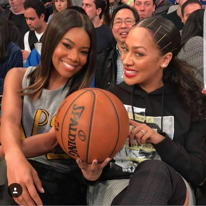 "<p>As the wife of Dwyane Wade, Gabby Union definitely has being a basketball star's wife in common with La La Anthony, who's married to Carmelo Anthony of the New York Knicks. But their bond is bigger than that. ""When friends become family… Way bigger than [basketball emoji] #thesisterhood OGs,"" the <i>Being Mary Jane</i> actress captioned a pic of her sitting courtside with La La. (Photo: <a rel=""nofollow"" href=""https://www.instagram.com/p/BPMR6HagGEu/?taken-by=gabunion"">Instagram</a>) </p>"