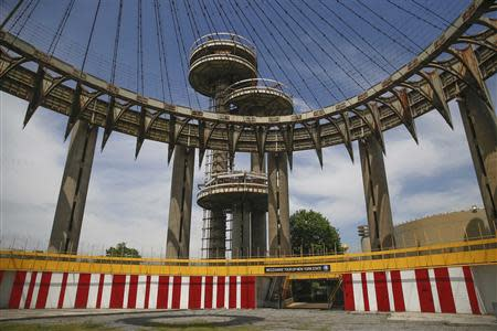 New York State Pavilion, one of the last architectural vestiges of 1964 World's Fair is seen at Flushing Meadows-Corona Park in the Queens borough of New York