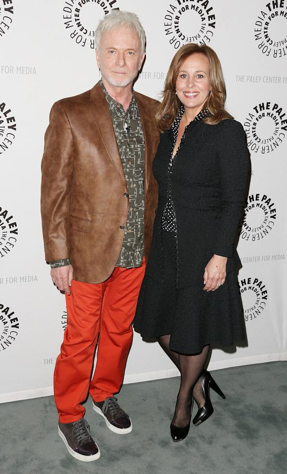 "BEVERLY HILLS, CA - APRIL 12: Actor Anthony Geary (L) and actress Genie Francis attend The Paley Center for Media Presents ""General Hospital: Celebrating 50 years and Looking Forward"" at The Paley Center for Media on April 12, 2013 in Beverly Hills, California.  (Photo by Frederick M. Brown/Getty Images)"