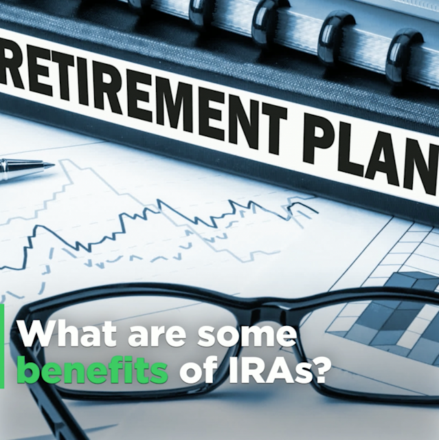 Here's a great benefit: IRAs offer tax-free growth.