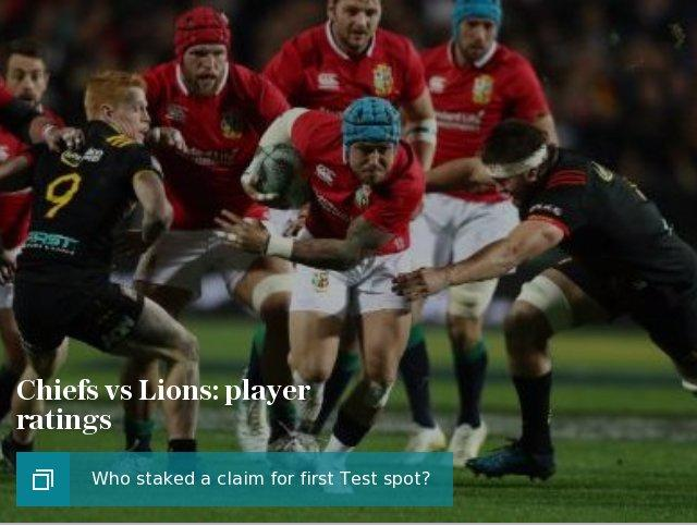Chiefs vs Lions: player ratings