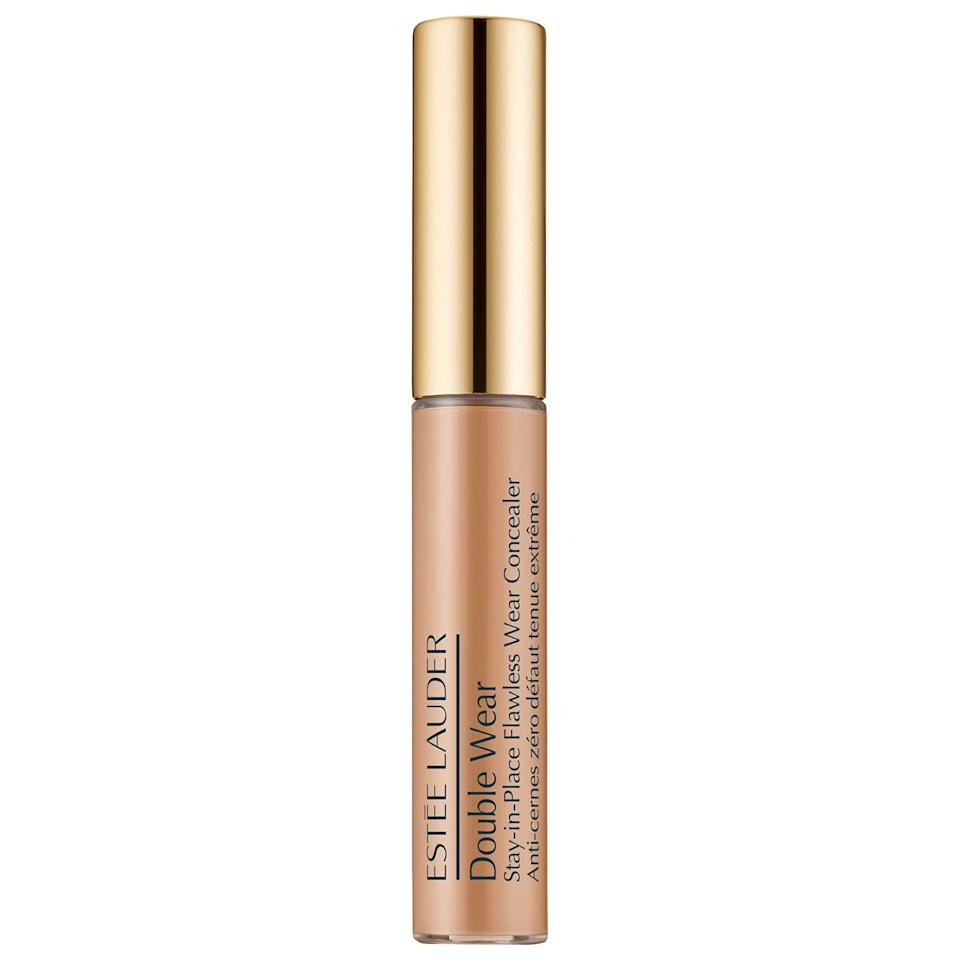 "<p>The top-rated <a href=""https://www.popsugar.com/buy/Est%C3%A9e-Lauder-Double-Wear-Stay--Place-Flawless-Wear-Concealer-573262?p_name=Est%C3%A9e%20Lauder%20Double%20Wear%20Stay-In-Place%20Flawless%20Wear%20Concealer&retailer=sephora.com&pid=573262&price=29&evar1=bella%3Auk&evar9=47465079&evar98=https%3A%2F%2Fwww.popsugar.com%2Fbeauty%2Fphoto-gallery%2F47465079%2Fimage%2F47465085%2FEst%C3%A9e-Lauder-Double-Wear-Stay-In-Place-Flawless-Wear-Concealer&list1=sephora%2Cconcealer%2Cbeauty%20shopping&prop13=api&pdata=1"" class=""link rapid-noclick-resp"" rel=""nofollow noopener"" target=""_blank"" data-ylk=""slk:Estée Lauder Double Wear Stay-In-Place Flawless Wear Concealer"">Estée Lauder Double Wear Stay-In-Place Flawless Wear Concealer</a> ($29) offers oil-free, transfer-resistant color that Sephora shoppers praise for not caking or creasing either. Plus, it's lightweight, hydrating, and easy to blend, so skin looks airbrushed with no touchups necessary throughout the day.</p>"