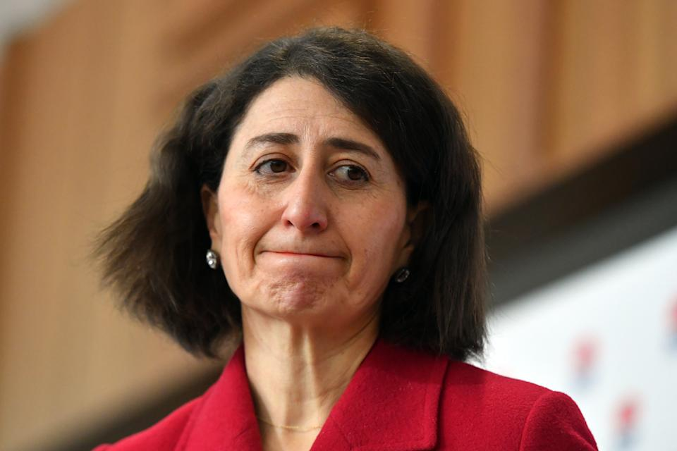 NSW Premier Gladys Berejiklian at a press conference to provide a COVID-19 update in Sydney. Friday, July 23, 2021