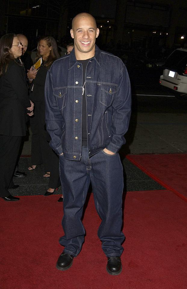 """<a href=""""http://movies.yahoo.com/movie/contributor/1800020716"""">Vin Diesel</a> at the Hollywood premiere of <a href=""""http://movies.yahoo.com/movie/1808403703/info"""">A Man Apart</a> - 04/01/2003"""