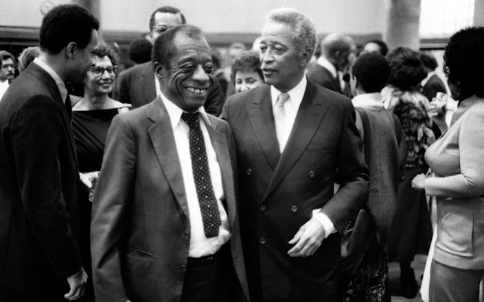 With the writer James Baldwin in 1985 - Adger Cowans/Getty Images