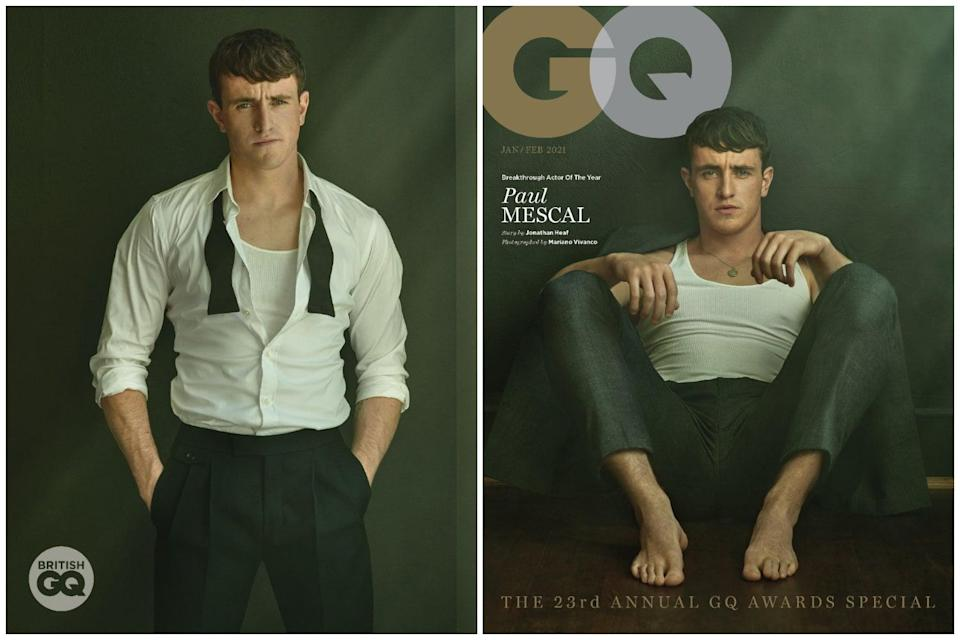<p>Dylan Jones, Editor of GQ, today announced that Paul Mescal will be honoured with the Hugo Boss Breakthrough Actor Of The Year award at this year's virtual GQ Men Of The Year Awards.</p> (Mariano Vivanco)