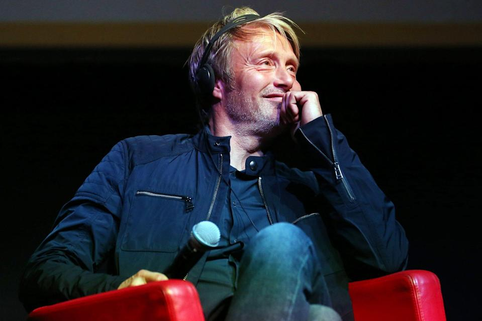 <p>Mads Mikkelsen is all smiles at the <i>Druk (Another Round)</i> press conference on Tuesday during the 15th annual Rome Film Festival. </p>
