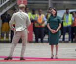 <p>But it looked cute and we were into it. Taken just before they boarded a plane from Fiji to Tonga, Meghan looked sufficiently entertained.</p>
