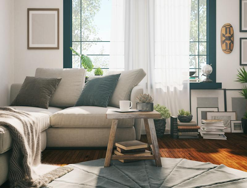 Sunlight and earthy furnishings can all add up to a happier home. (Photo: Getty Images)