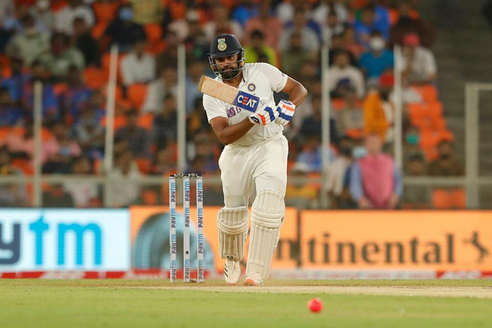 Rohit Sharma drives for fourBCCI