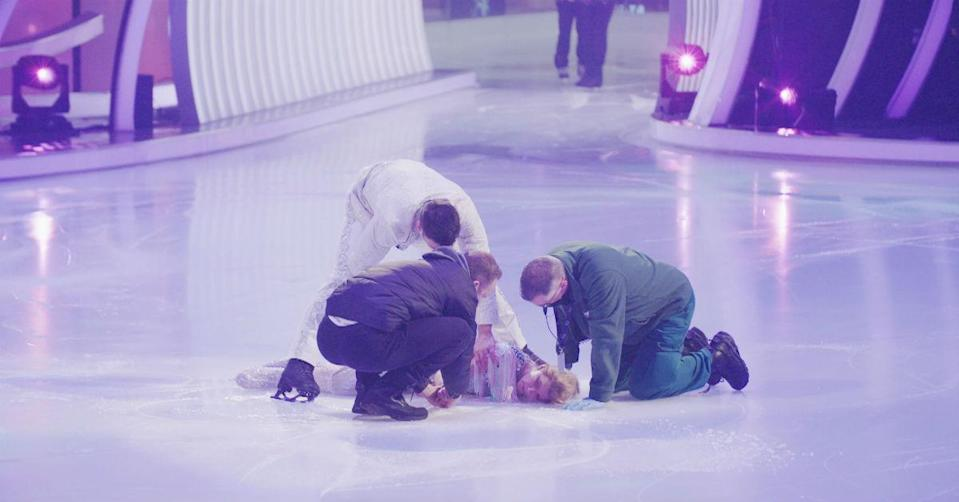 Jane fainted during rehearsals (ITV)