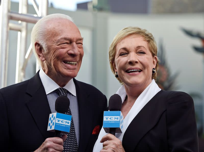 FILE PHOTO: Cast members Plummer and Andrews are interviewed during the 50th anniversary screening of musical drama film