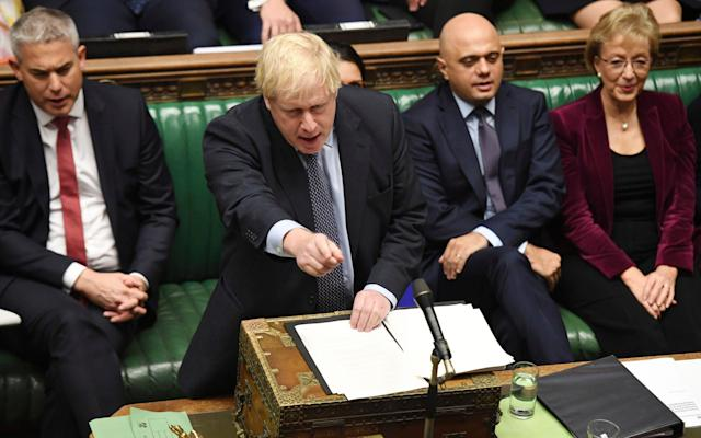 MPs delayed approval of Boris Johnson's Brexit deal over the weekend - AP