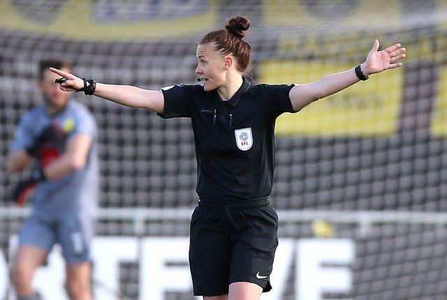 Rebecca Welch refereed the League Two clash between Harrogate and Port Vale on Easter Monday
