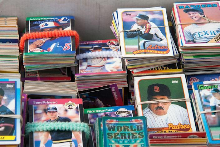 """<p>Baseball cards have long been purchased, collected, traded, and sold by baseball-loving kids who often carry the passion for the memorabilia into adulthood. In 2016, the T206 Honus Wagner card from 1909-1911 set a world record when it sold for $3.12 million, <a href=""""https://www.stadiumtalk.com/s/most-expensive-baseball-cards-985687df1bbe45c5"""" rel=""""nofollow noopener"""" target=""""_blank"""" data-ylk=""""slk:the most ever paid"""" class=""""link rapid-noclick-resp"""">the most ever paid </a>for a baseball card.</p>"""