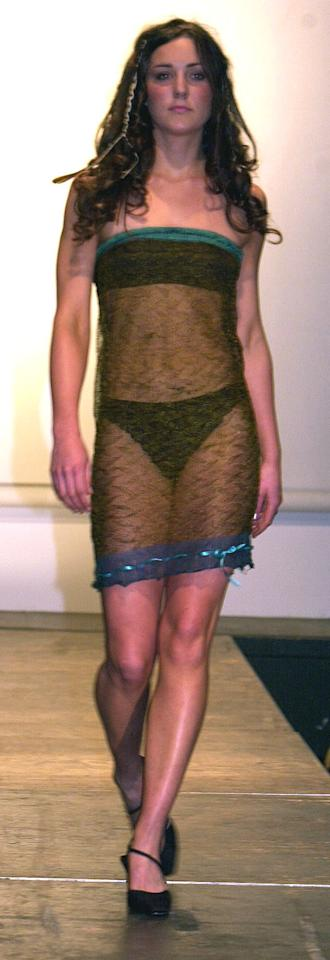 <p>Back in 2002, when a then 19-year-old Kate Middleton strutted down St Andrews University Charity Fashion Show catwalk in a semi-sheer Charlotte Todd design, no one batted an eyelid (expect perhaps Prince William). Fast-forward almost a decade when the photo re-emerged, and the world went crazy for potentially the most risqué outfit a royal has ever worn.<i> [Photo: Rex]</i></p>