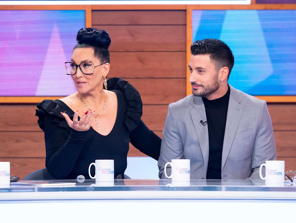 Michelle and Giovanni during a recent appearance on Loose Women (Photo: Ken McKay/ITV/Shutterstock)