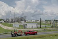 The Denka chemical plant in Reserve, Louisiana is the only US site that produces neoprene, a material used for wetsuits, gloves and electrical insulators