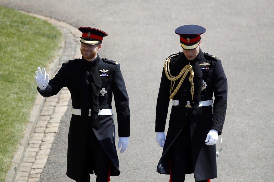 Prince William and Prince Harry at Windsor Castle.