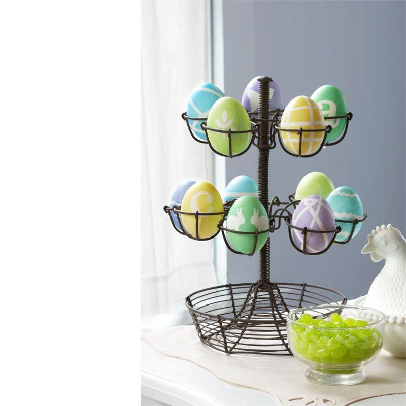 "<p>Use masking tape to create these delightful designs before dropping your egg into dye. Then, carefully peel away to reveal your masterpiece.</p><p><em>Get the tutorial at <a href=""https://www.countryliving.com/diy-crafts/how-to/g1111/easter-crafts/?slide=60"" rel=""nofollow noopener"" target=""_blank"" data-ylk=""slk:Country Living"" class=""link rapid-noclick-resp"">Country Living</a>.</em></p>"