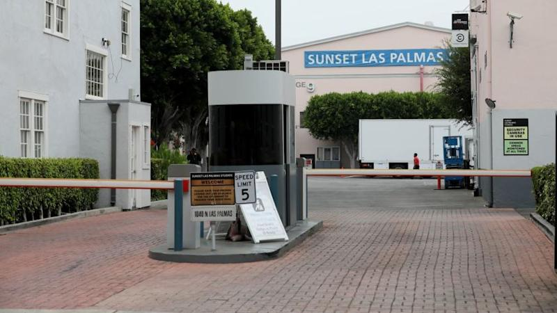 LOS ANGELES, CALIF. -- WEDNESDAY, SEPTEMBER 5, 2018: Entrance Sunset Las Palmas Studio. Hudson Pacific Properties said it will build a new office building called Harlow on its Sunset Las Palmas Studios in Los Angeles, Calif., on Sept. 5, 2018. (Gary Coronado / Los Angeles Times)