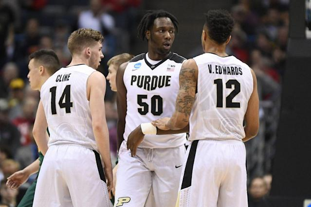 "Hours before the deadline, Purdue's <a class=""link rapid-noclick-resp"" href=""/ncaab/players/131277/"" data-ylk=""slk:Caleb Swanigan"">Caleb Swanigan</a> finally decided whether to remain in the NBA draft. (Getty)"