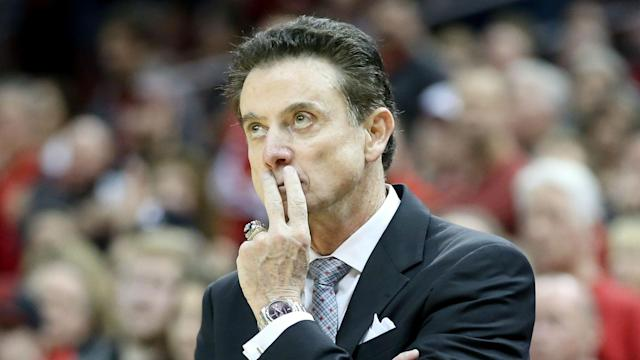 Rick Pitino vowed to not return to the state of Kentucky, and he's keeping that promise, even though he has a filly racing at Kentucky Oaks.
