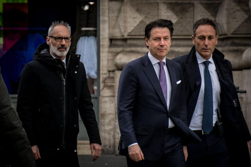 The President of the Council, Giuseppe Conte, spoke at the presentation of the ''Report on Information Policy for Security'', edited by the Intelligence Department and relating to the year 2019, returned to Palazzo Chigi on March 2 , 2020 in Rome, Italy (Photo by Andrea Ronchini/NurPhoto)