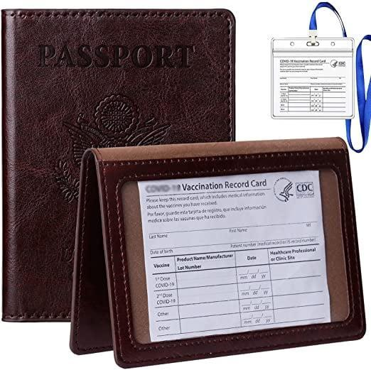 <p>I ordered this <span>Tigari Passport Cover and Vaccine Card Holder Combo in Black Brown</span> ($10) for my dad and the color is so rich in person.</p>
