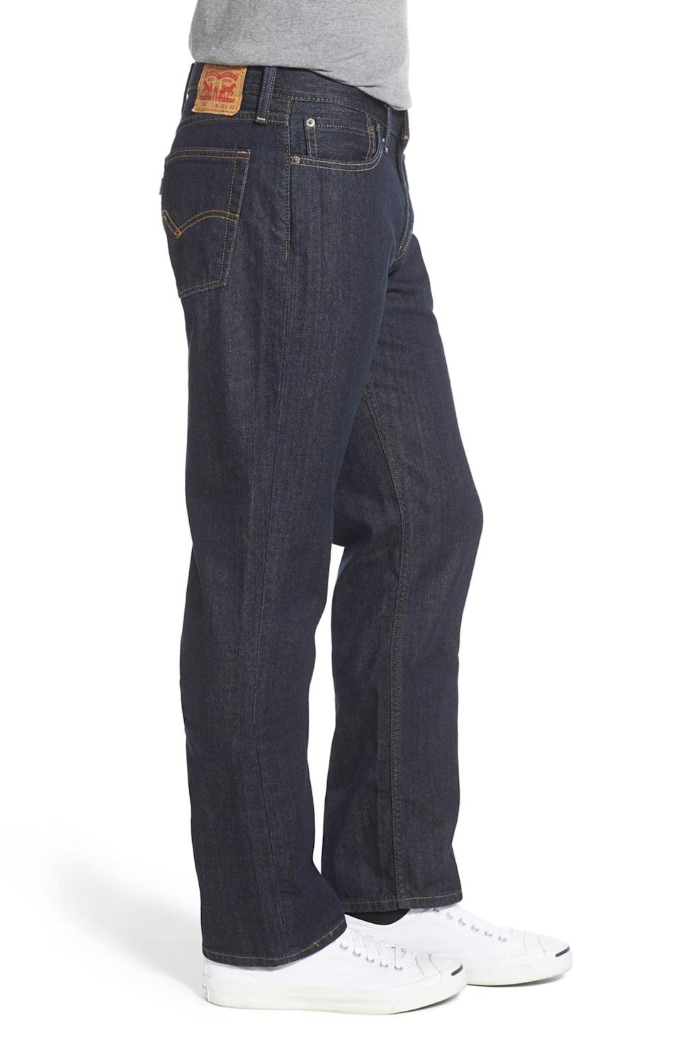 """Levi's jeans are as classic as it gets. <strong><a href=""""https://fave.co/2R2qMbv"""" target=""""_blank"""" rel=""""noopener noreferrer"""">Find this pair at Nordstrom</a></strong>."""