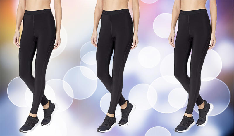 These compression leggings are more than half off. (Photo: Amazon)
