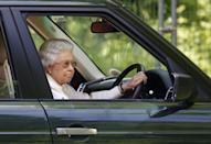 """<p>The monarch isn't shy about hopping behind the wheel of her Land Rover — especially when visiting her country estates. But one normal thing you'll never spot her doing: taking a driving test. The Queen is the <a href=""""https://www.vanityfair.com/style/2019/04/the-queen-reportedly-given-up-driving"""" rel=""""nofollow noopener"""" target=""""_blank"""" data-ylk=""""slk:only person in the U.K. that can drive without a license"""" class=""""link rapid-noclick-resp"""">only person in the U.K. that can drive without a license</a>. </p>"""
