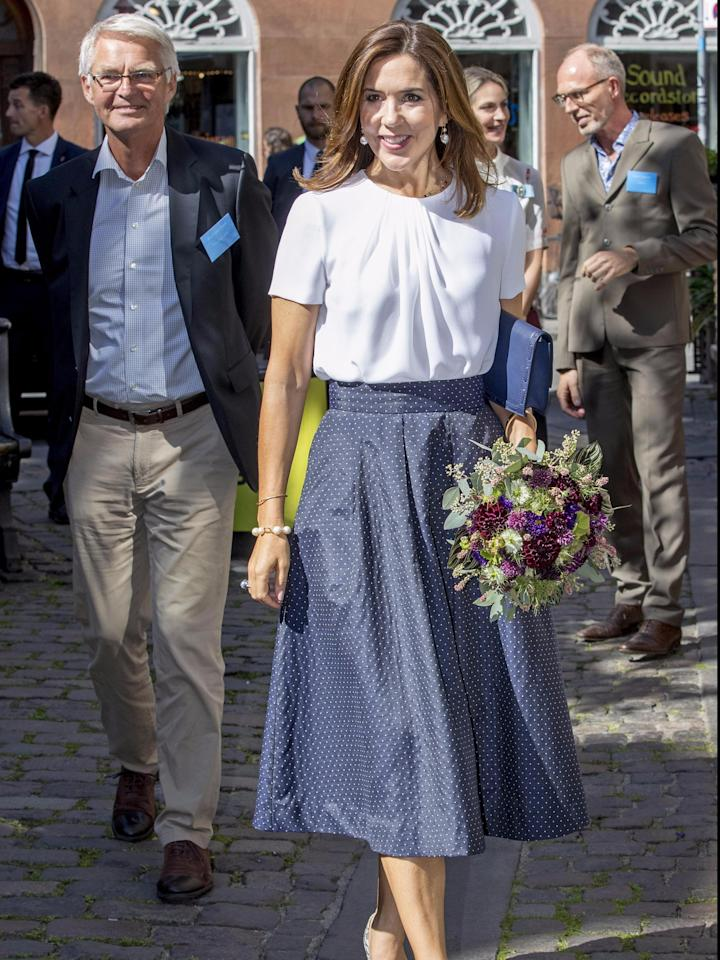 Princess Mary of Denmark always looks great, but this crisp, clean get-up is flawless.