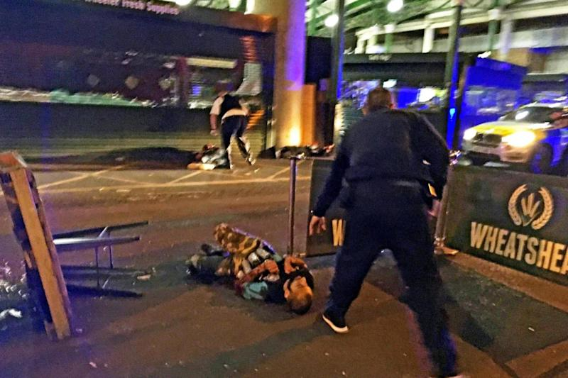 London Bridge attack: two of the terrorists were shot dead by police (EPA)