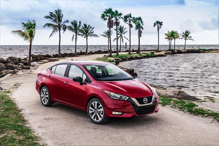 """<p>Nissan remains committed to building sedans; witness <a href=""""https://www.caranddriver.com/nissan/maxima"""" rel=""""nofollow noopener"""" target=""""_blank"""" data-ylk=""""slk:the lightly refreshed 2019 Maxima"""" class=""""link rapid-noclick-resp"""">the lightly refreshed 2019 Maxima</a> and <a href=""""https://www.caranddriver.com/nissan/altima"""" rel=""""nofollow noopener"""" target=""""_blank"""" data-ylk=""""slk:the Altima, which was all new for 2018"""" class=""""link rapid-noclick-resp"""">the Altima, which was all new for 2018</a>. The 2020 Versa's handsome exterior and increased proportions display design influence from both of those larger siblings.</p>"""