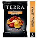<p>My brother is also trying to be more plant-based, and he got me hooked on these <span>Terra Original Chips With Sea Salt</span> ($19 for 24). They feel like a healthier chip, and they're insanely delicious.</p>