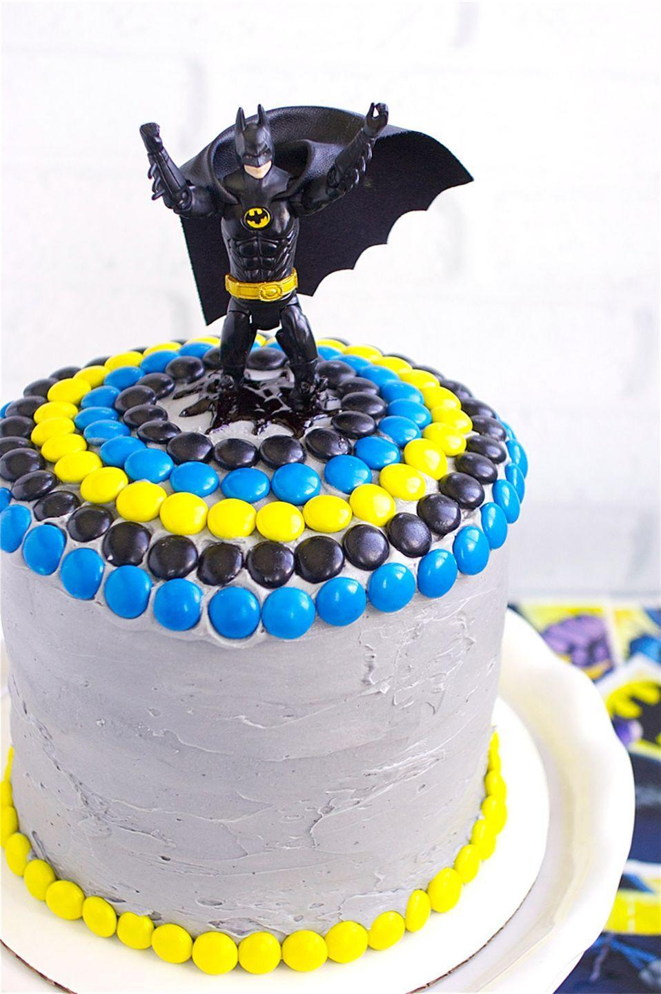 """<p>The decorations on this cake are pretty fitting, given that dad is basically a superhero. </p><p><em><a href=""""http://deliciouslydeclassified.com/2015/03/28/batman-cake/"""" rel=""""nofollow noopener"""" target=""""_blank"""" data-ylk=""""slk:Get the recipe from Deliciously Declassified »"""" class=""""link rapid-noclick-resp"""">Get the recipe from Deliciously Declassified »</a></em> </p>"""
