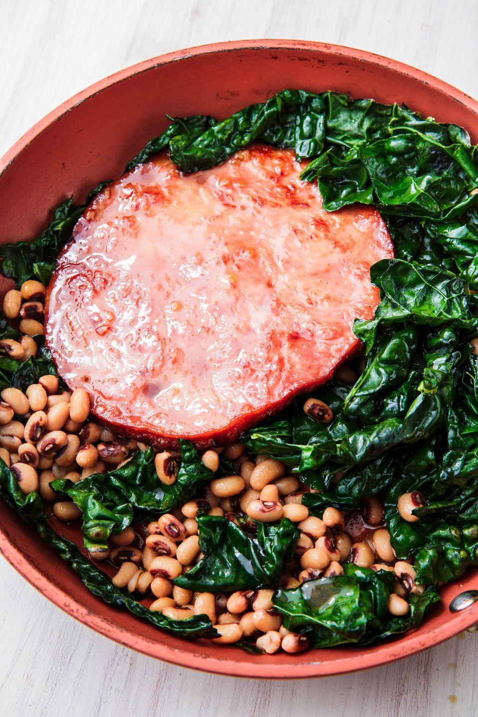 """<p>You don't need to make a whole ham to enjoy this Christmas classic.</p><p>Get the recipe from <a href=""""https://www.delish.com/cooking/recipe-ideas/a25361409/easy-ham-steak-recipe/"""" rel=""""nofollow noopener"""" target=""""_blank"""" data-ylk=""""slk:Delish"""" class=""""link rapid-noclick-resp"""">Delish</a>.</p>"""