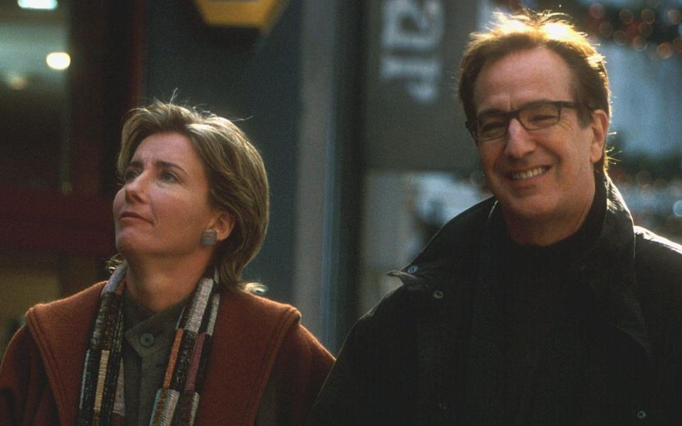 Emma Thompson and Alan Rickman in Love Actually (Credit; Working Title)