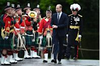<p>Inspecting the Guard of Honour on the forecourt of the Palace of Holyroodhouse on May 21, 2021 in Edinburgh, Scotland.</p>