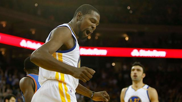 Kevin Durant should be able to play in the Warriors' matchup against the Pelicans as long as there are no unforeseen setbacks.