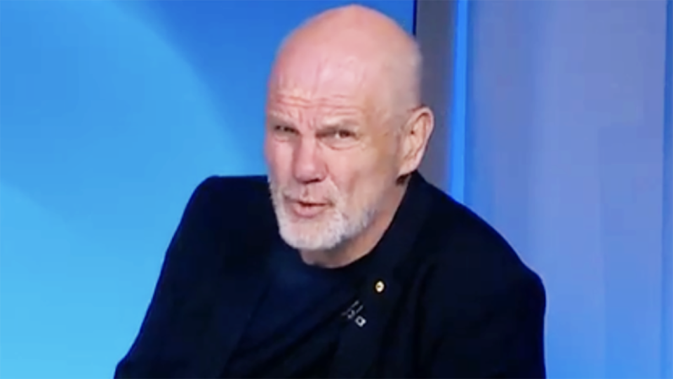 Peter FitzSimons pictured on Channel 9's Wide World of Sports.