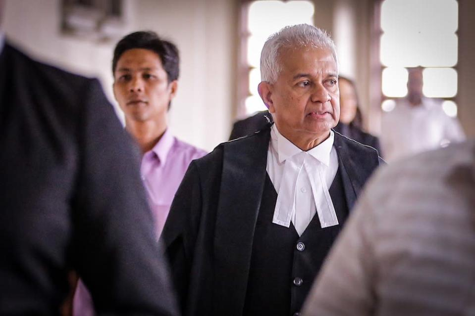 Tan Sri Tommy Thomas's memoir titled 'My Story: Justice in the Wilderness' was launched over the weekend, in which he made several revelations about his working relationship with Tun Dr Mahathir Mohamad. — Picture by Hari Anggara
