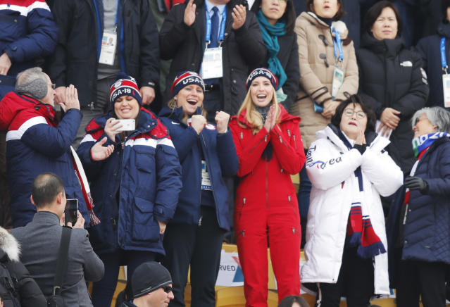 <p>Ivanka Trump during the Snowboard Mens Big Air Finals at Alpensia Ski Jumping Centre on February 24, 2018 in Pyeongchang-gun, South Korea. (Photo by Nils Petter Nilsson/Getty Images) </p>