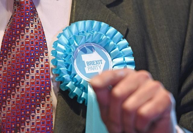 Brexit Party badge