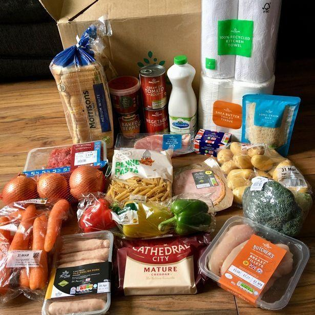 Contents of the Morrisons food boxMorrisons
