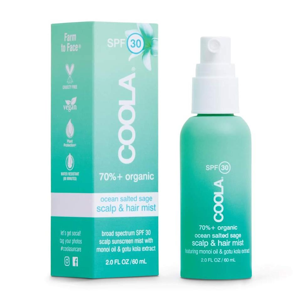 """<h2>COOLA</h2><br>20% off select COOLA products<br><br><strong>Coola</strong> Organic Scalp Spray &Hair Sunscreen Mist, $, available at <a href=""""https://amzn.to/3wO30nx"""" rel=""""nofollow noopener"""" target=""""_blank"""" data-ylk=""""slk:Amazon"""" class=""""link rapid-noclick-resp"""">Amazon</a>"""