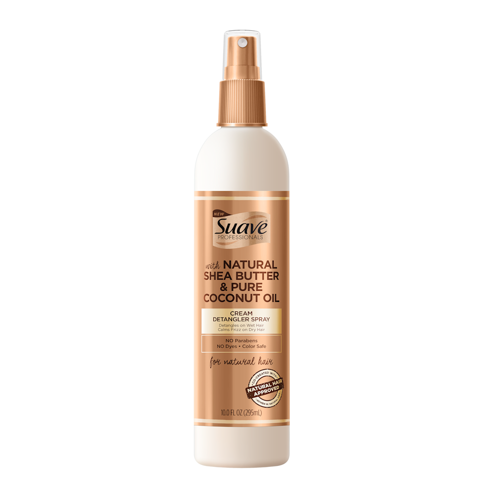 "<p>Spritz Suave Professional's Cream Detangler onto wet hair to melt away knots, or use on dry coils to refresh and calm frizz. ""I highly recommend sectioning hair into three to four sections,"" says hairstylist <a href=""https://www.instagram.com/yenedamtew/"">Yene Damtew</a>, who has <a href=""https://www.allure.com/story/yene-damtew-interview-hairstylist-for-michelle-obama-book-tour?mbid=synd_yahoo_rss"">worked with Michelle Obama</a>. ""Try to detangle hair in the shower (or shampoo bowl).""</p> <p>$5 (<a href=""https://shop-links.co/1670706057776533659"" rel=""nofollow"">Shop Now</a>)</p>"